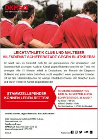 Flyer DKMS Typisierungsaktion